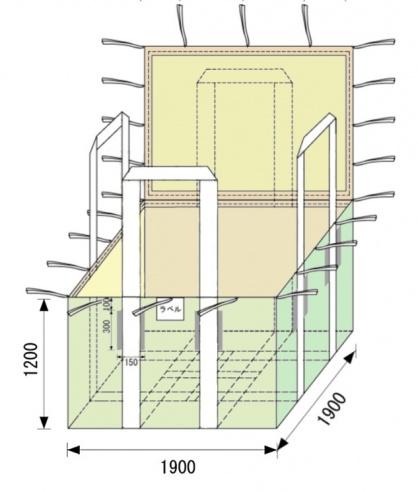 四角いフレコンバッグ TF-400
