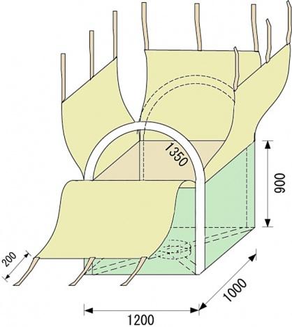 四角いフレコンバッグ TF-100